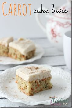 Easter Carrot Cake Bars with Cream Cheese Frosting
