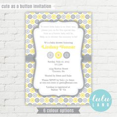 find this pin and more on baby cute as a button baby shower invitation