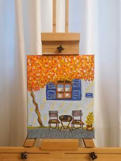 Greek House, Gouache, Canvas Art, Frame, Artist, Home Decor, Picture Frame, Decoration Home, Room Decor