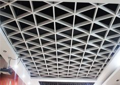 China unique Lattice Suspended metal ceiling grid For Office / civil buildings supplier rigips Acoustic Ceiling Tiles, Drywall Ceiling, Wood Ceilings, Office Ceiling, Ceiling Grid, Metal Ceiling, Le Triangle, Types Of Ceilings, Liberty House