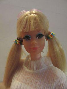 Vintage 1967 Mattel Blonde Hair Brown eye talking barbie w/stand