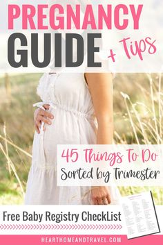 Are you looking for the ultimate guide to plan out your pregnancy and get organized? Check out this list of helpful tips to guide you along trimester by trimester. First pregnancy * First time mom * New mom * Baby products * 1st trimester * 2nd trimester * 3rd trimester via @hearthometravel