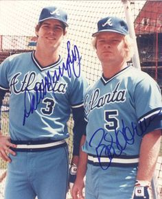 Dale Murphy and Bob Horner-the good old days and Fulton Co. Stadium when we when when we were little!!! My favorite #3 and my brothers #5!!!