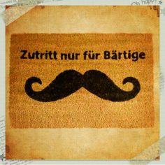 Fußmatte Kokosmatte Mustache  Moustage VINTAGE von matt-erie auf DaWanda.com