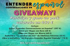 Activa tu español con este Giveaway Best Vegan Restaurants, Spanish Language Learning, Learn Spanish, Free Things To Do, Teaching Materials, Spain Travel, Languages, Giveaways, Travel Inspiration