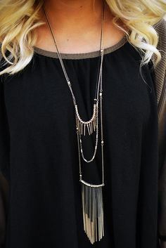 Take It Away Necklace: Gold #shophopes