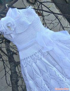 Gorgeous Flower Girl Thread Crochet Dress (Russian Graph)