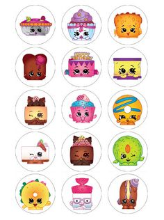 Shopkins Birthday Edible Cupcake Fairy Cake Toppers Decorations X 15 Shopkins, Shopkin Coloring Pages, 7th Birthday, Cake Toppers, Icing, Cake Decorating, Fairy, Stickers, Decorations