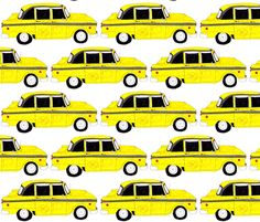 Taxi Car fabric by smuk on Spoonflower - custom fabric