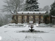 conservatory in the snow