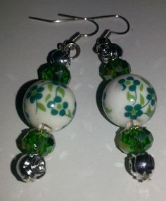 Check out this item in my Etsy shop https://www.etsy.com/listing/250620709/green-porcelain-dangle-earrings