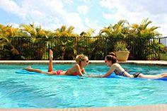 Best friends | We Heart It | pool, summer, and best friends