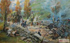 Jerzy KOSSAK Napoleon wjeżdża do zdobytego wąwozu Samosierra