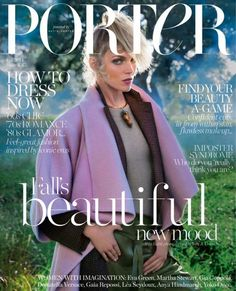 Porter // Porter's first fall cover ever embraces color and models, resulting in a beautifully dreamy image.