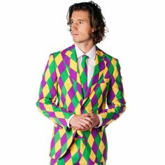 The Mardi Gras Party Suit by Opposuits - Shinesty