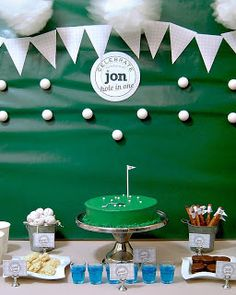 Decorating Ideas from Out on the Patio: REAL PARTIES: Golf Themed 30th Birthday // Hostess with the Mostess®