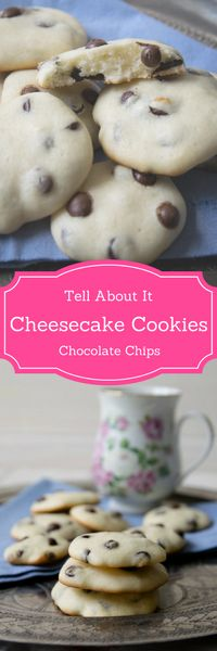 Super softe Cheesecake Cookies mit Chocolate Chips