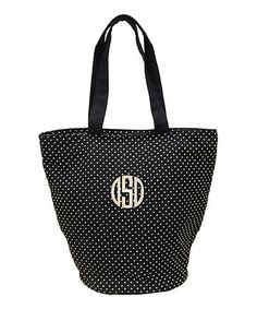Another great find on #zulily! Navy Round Bottom Monogram Tote by CB Station #zulilyfinds