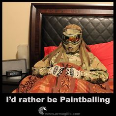 How you feel the night before a Big Game. So damn true! #armagillo #paintball