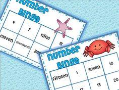 NUMBERS: Number Bingo (Ocean Themed)