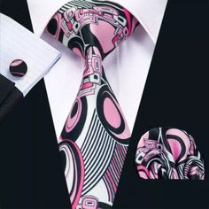 Famous Brand Cravate 2018 New Printed Tie Neck Ties For Mens Wedding Tie Width Mens Gravata Party Neckties For Wedding Mens Wedding Ties, Novelty Ties, Cufflink Set, Mens Silk Ties, Tie And Pocket Square, Tie Set, Fashion Prints, Mens Fashion, Style Fashion