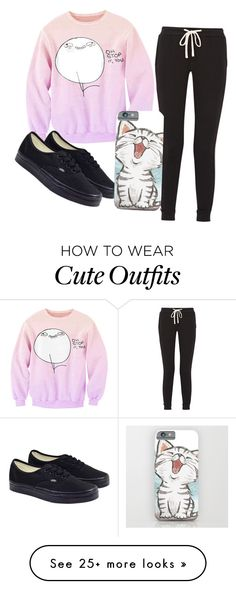 """""""Outfit 11"""" by kwangminaee on Polyvore featuring James Perse and Vans"""