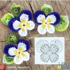 Super crochet motifs fleurs haken Ideas - Szydełkowe kwiatki i nie tylko - Couture Crochet Motifs, Crochet Diagram, Crochet Chart, Love Crochet, Irish Crochet, Crochet Doilies, Crochet Stitches, Diy Crochet, Crochet Flower Tutorial