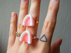 Denture Charm Ring