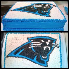 I made a Carolina Panther cake tonight. Looks pretty cool :)