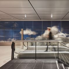 daan roosegaarde has added a new dimension to amsterdam's airport schiphol with installation of 'beyond', a permanent, public artwork within departure hall 3