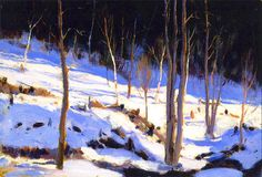 In The Clearing, Charlevoix Artwork By Clarence Gagnon Oil Painting & Art Prints On Canvas For Sale A4 Poster, Poster Prints, Clarence Gagnon, Canadian Painters, Canadian Artists, Of Montreal, Impressionism Art, Impressionist, Art Prints For Sale