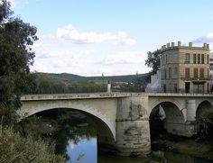 Puente romano sobre el río Genil. Puente Genil. Córdoba