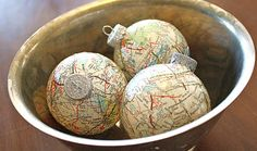 Map Ball Ornaments