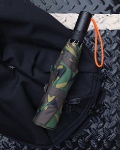 Limited Edition Camouflage with Orange Accents Blunt Classic Stick Umbrella