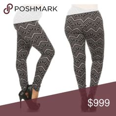 """(Plus) Fleece lined leggings Plus size snowflake fleece lined leggings. Light fleece lining. Extremely stretchy! 92% polyester/ 8% spandex. These are so soft and not sheer. Inseam for all is 27"""". Rise is 10.5"""".  Waistband measures:  1x: 30""""- 40"""" • 2x: 32""""- 42"""" • 3x: 34""""- 44"""" Very TTS!! I tried on the 3x and they were a bit loose (I am a 2x).  ⭐️This item is brand new with manufacturers tags or in original packaging. 🚫NO TRADES 💲Price is firm unless bundled 💰Ask about bundle discounts…"""
