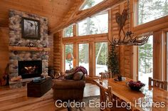 Photos and floor plans are at www.GoldenEagleLogHomes.com  #loghomeliving #construction #loghomes #loghome #logcabins #cabin #logcabins #home #homes #houzz #outdoors #nature #rusticliving