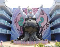 Ursula building in the Little Mermaid section of Disney's Art of Animation Resort. Disney Day, Disney Love, Disney Magic, Disney 2017, Disney Nerd, Disney World Parks, Walt Disney World Vacations, Disney Travel, Disney Resort Hotels