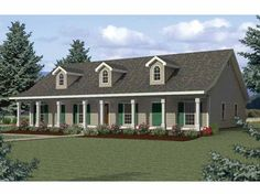 Home Plan HOMEPW07937 - 2354 Square Foot, 4 Bedroom 2 Bathroom Country Home with 0 Garage Bays   Homeplans.com