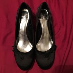 NWOT Black 8.5 Kitten Heels For sale I have a pair of new without tags Mootsie Tootsie kitten heels. These are a size 8.5 and are a satin-like finish with a little black bow. Mootsies Tootsies Shoes Heels