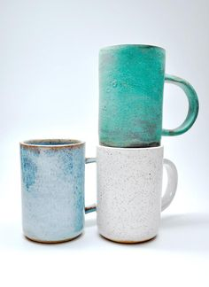 Imbiber Mug // gorgeous blue and teal pottery mugs