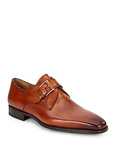 Magnanni for Saks Fifth Avenue - Monk-Strap Leather Loafers
