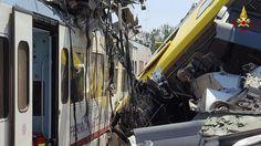 إيطاليا : اسوء حادث منذ سنوات ,  تصادم قطارين في مقاطعة بوليا