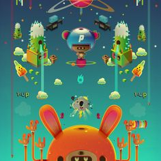434/cube/deity/-death sequence_24 in orange by jonathan ball, via Behance