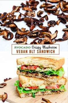 Crispy seasoned mushrooms, avocado, tomatoes, lettuce, and a delicious creamy chipotle aoli makes for the perfect veganized BLT sandwich! Make the mushroom and aoli ahead of time to turn this into a quick meal!