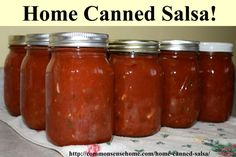 """This home canned salsa recipe rates an """"Awesome!"""" from friends and family alike. Hot or mild - you choose! Enjoy your fresh, local produce year round."""