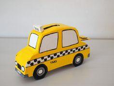 Make a Cardboard Taxi Bank