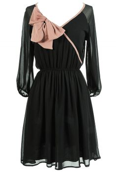 Bow-tiful chiffon dress, $40.00: http://www.lilyboutique.com/shop/dresses/bow-tiful-beauty-chiffon-dress/