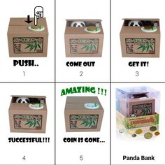 2012 Christmas Special Gift - How to save your money? How to use this cute bank saver? http://www.globalcaremarket.com/us/panda-coin-bank-box-christmas-gift.html