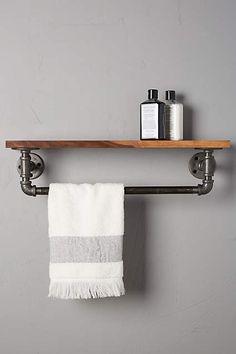 Fresh Double towel Bar with Shelf