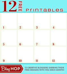 Twelve talented bloggers participated in this FABULOUS Blog Hop - head on over and gather up your 12 freebie SPRING printables. www.TheDatingDivas.com #freeprintable #spring #springprintables